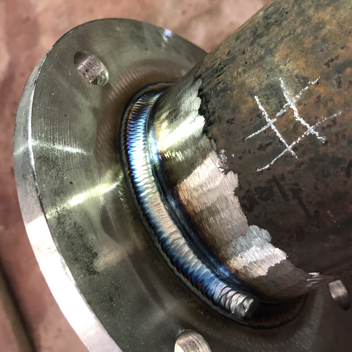 Stainless steel tig welding