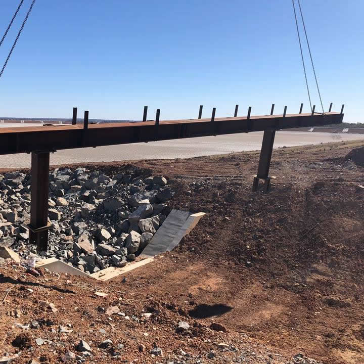 Pipe Bridge across Tailings Causeway